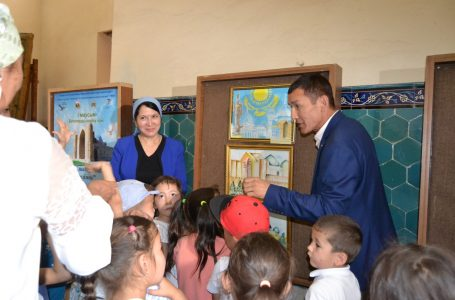 "In ""Azret Sultan"" the reserve-museum an exhibition ""The Holy City – through the eyes of children"" was held"