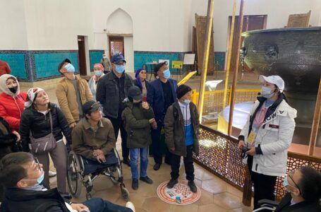 PEOPLE WITH DISABILITIES VISITED THE MAUSOLEUM OF KHOJA AHMED YASAWI