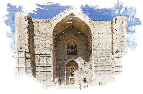 Мавзолей Кожа Ахмет Ясави. Зимний пейзаж