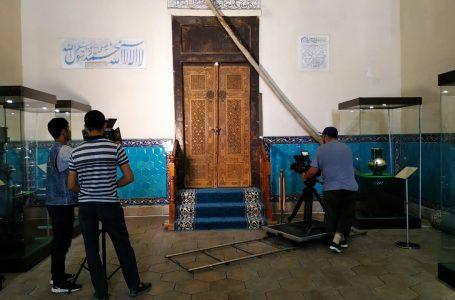 В Государственном историко-культурном заповеднике-музее «Азрет Султан» началась съемка документального фильма о мавзолее Ходжи Ахмеда Ясави