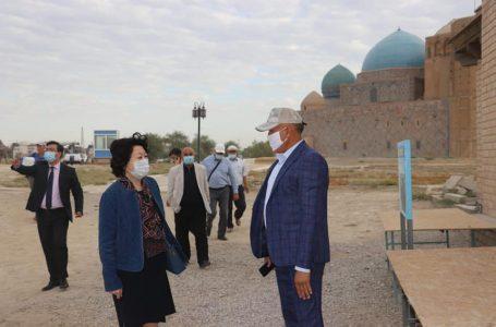 ҚР Мәдениет және спорт министрі Ақтоты Райымқұлова Түркістан қаласына іссапармен келді.
